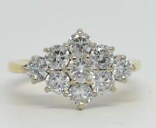 Stunning 18ct Gold 1.40ct Diamond Cluster Ring