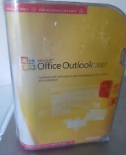 MICROSOFT OFFICE OUTLOOK 2007 ACADEMIC USE ONLY BOXED SEALED AND UNUSED