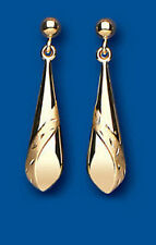 Unbranded Diamond Drop/Dangle Yellow Gold Fine Earrings