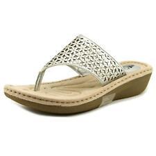 Sandalias y chanclas de mujer en plata talla 38