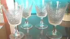 FINE ARTS ROYAL DIAMOND (4) CRYSTAL WATER OR WINE GOBLETS