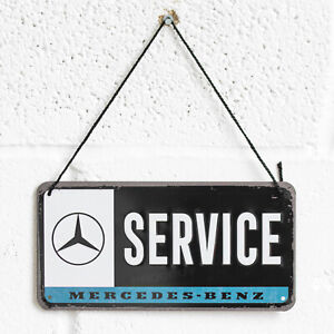 Mercedes-Benz Service Garage 20cm Hanging Wall Sign Tin Plaque Merchandise Gift