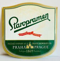 Straropramer Beer Praha Zalozeno 1869 Smichove , targa pubblicitaria in rilievo