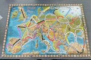 Ticket To Ride Europe 15th Anniversary | Game Board Map Of European Train Routes