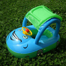 Inflatable Baby Kids Child Float Seat Boat Tube Ring Car Sun shade Swimming Pool