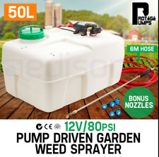 50L Pump Driven Chemical Tank Garden Weed Sprayer 4.0 L/min 80 PSI Pressure