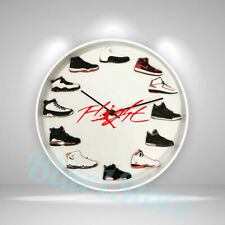 """New Handcrafted 12"""" 2D Jordan Sneakers clock nike off white yeezy suporeme ovo"""