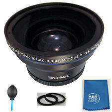 58MM 0.43x Pro HD Wide Angle Lens fisheye  w/ Macro for CANON T2I T3I T4I SL1 T3