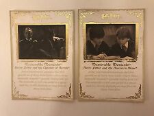 PROMO CARDS: HARRY POTTER MEMORABLE MOMENTS SERIES 1: 2 DIFFERENT #1 & #2