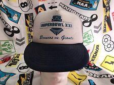 Vintage Super Bowl XXL NFL Football Hat Cap Adjustable SnapBack Broncos vs Giant