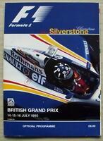 BRITISH GRAND PRIX 1995 FORMULA ONE F1 SILVERSTONE Official Race Programme