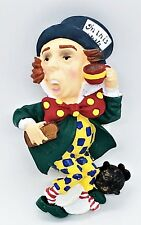 Alice in Wonderland Mad Hatter Hand Painted Yarto Magnet Mint Condition!