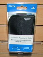 Sony Official PSP Accessory Carrying Case And Cloth Brand New! Fast Shipping!
