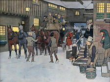 NEW Coaching Scene, Christmas cards pack of 10 by Cecil Aldin C495X