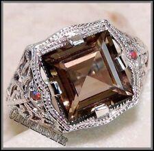 Smoky Quartz Sterling Silver Fine Gemstone Rings