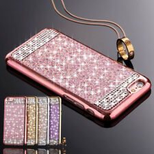 Luxury Bling Glitter Diamond Soft TPU Case Skin Cover For iPhone Samsung Phones
