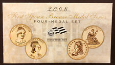 2008 First Spouse Bronze Medal Set -- Four Medals in Original Mint Packaging