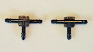 2x Fits Caddy Plastic Vacuum Hose Splitter Y T Connectors Windshield Fluid 1/8""