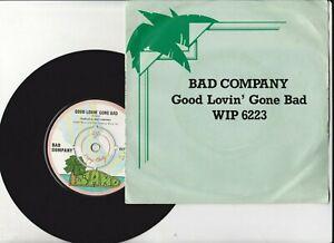 Bad Company – Good Lovin' Gone Bad VINYL 45 DJ PROMO / DEMO ISLAND  WIP6223 1975