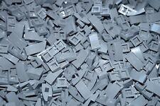 LEGO 25 x DARK STONE GREY CURVED SLOPE BRICKS 1x2x2/3 No 11477/17134
