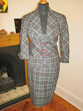 TOPSHOP TOP SHOP jacket & WIGGLE SKIRT suit set 8-10 urban OFFICE TARTAN CHECK