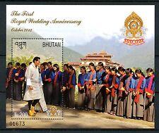 Bhutan 2012 MNH 1st Royal Wedding Anniv 1v S/S VI King Jigme Wangchuck Stamps