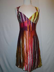 MODA INTERNATIONAL WOMAN'S MULTI- COLOR SILK SLEEVELESS DRESS SIZE 2