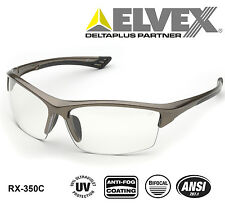 Elvex RX-350C +2.0 Bi-Focal ANSI Rated Safety Glasses with Anti-Fog & UV