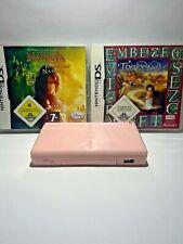 Nintendo DS Lite Pink Rose + 2 Spiele Handheld
