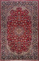 7x11 Vintage Floral Najafabad Hand-Knotted Area Rug Traditional Oriental Carpet