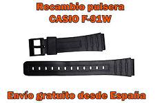 Pulsera correa reloj Casio negro // F91W // Vintage // Retro