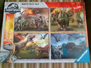 Ravensburger Jurassic world  Bumper Puzzle pack  4 × 100 jigsaw puzzles