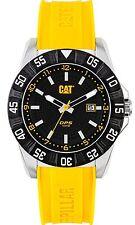 New Men's Caterpillar CAT Analog Date Yellow Rubber PM.141.22.134 DP Sport Watch