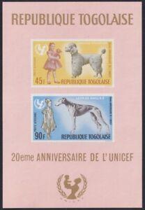 F-EX22239 TOGO MNH 1967 20 ANIV UNICEF. DOG PERROS.
