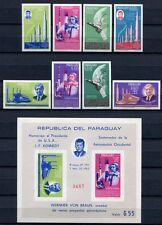 Paraguay 1964 Space Raumfahrt von Braun Kennedy 1357-64 Block 61 Postfrisch MNH