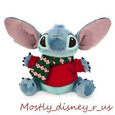 New Disney Store Hawaii Lilo & Stitch Alien Holiday Christmas Plush Toy Doll 12""
