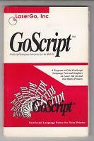 GOSCRIPT -  RARE Book on the IBM PC - post script LANGUAGE  INTERPRETER -