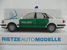 """Rietze 50423 Audi 100 Limousine (1990) """"POLIZEI"""" in grün/weiß 1:87/H0 NEU/OVP"""