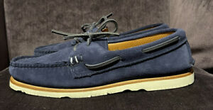 $375 Sunspel x Sperry Authentic Original Suede Boat Shoes Mens 9.5 Made in USA