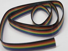 1m Length 10W 10 Way Rainbow Ribbon Cable  7/0.2mm   EV03