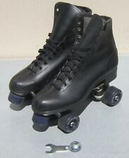 Black ROLLER DERBY ROLLER SKATES Mens U.S. size 10 w/ Wrench BEAUTIFUL CONDITION
