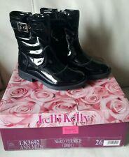Lelli Kelly Nero Vernice Patent Boot Black Leather Ann Mid Fleece Lined 26 8