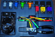 Live Circuit ,Relay and Fused Circuit Master Tester kit w/8 Jumpers, test Leads