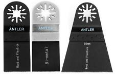 3 Antler Blade Combo B for Fein Multimaster Bosch Makita Oscillating Multitool