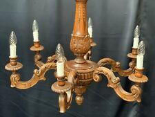 vintage carved wood antique chandelier ceiling light