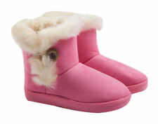 GIRLS KIDS Toddler SNOW FUR LINED PINK COLOR WINTER ANKLE BOOTS SHOES