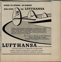 1956 Lufthansa German Airlines Non-Stop Europe  Vintage Print Ad 2627