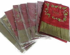 Set of 8 Christmas Guest Hand Towels Ribbon Embroidery Catherine Lillywhite