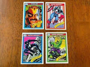 1990 Marvel Universe Series 1 Trading Cards COMPLETE SET, #1-162 (No holograms)