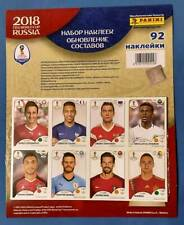 Panini World Cup 2018 Russia - Update Set 92 extra stickers